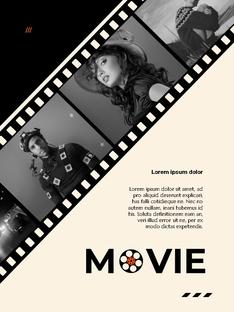 영화와 필름 테마 세로형 템플릿(파워포인트>프리미엄 PPT>사회/문화) - 예스폼 쇼핑몰 #21