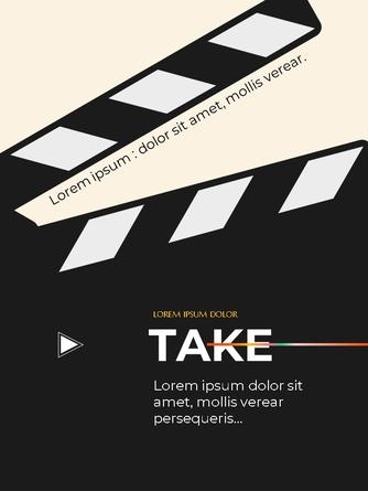 영화와 필름 테마 세로형 템플릿 - 섬네일 22page