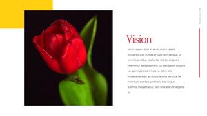 Tulip  튤립 PPT 16:9(파워포인트>프리미엄 PPT>자연/환경) - 예스폼 쇼핑몰 #9