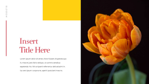 Tulip  튤립 PPT 16:9(파워포인트>프리미엄 PPT>자연/환경) - 예스폼 쇼핑몰 #12