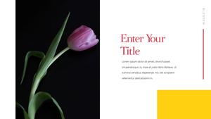 Tulip  튤립 PPT 16:9(파워포인트>프리미엄 PPT>자연/환경) - 예스폼 쇼핑몰 #14