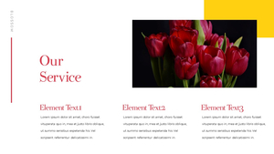 Tulip  튤립 PPT 16:9(파워포인트>프리미엄 PPT>자연/환경) - 예스폼 쇼핑몰 #16