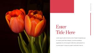 Tulip  튤립 PPT 16:9(파워포인트>프리미엄 PPT>자연/환경) - 예스폼 쇼핑몰 #17