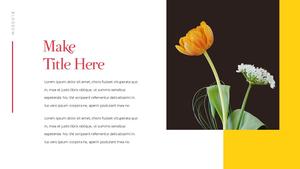 Tulip  튤립 PPT 16:9(파워포인트>프리미엄 PPT>자연/환경) - 예스폼 쇼핑몰 #24