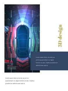 자율 주행 스마트카 Autonomous Driving 세로 템플릿(파워포인트>프리미엄 PPT>첨단/정보통신) - 예스폼 쇼핑몰 #2
