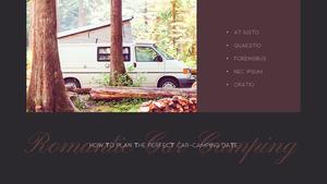 로맨틱 차박 캠핑  Car Camping PPT 템플릿(파워포인트>프리미엄 PPT>스포츠/레져) - 예스폼 쇼핑몰 #19