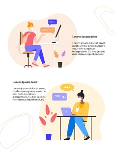 커뮤니케이션 컨셉 세로형 파워포인트 #4