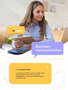 커뮤니케이션 컨셉 세로형 파워포인트 #6