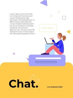 커뮤니케이션 컨셉 세로형 파워포인트 #10
