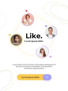 커뮤니케이션 컨셉 세로형 파워포인트 #13