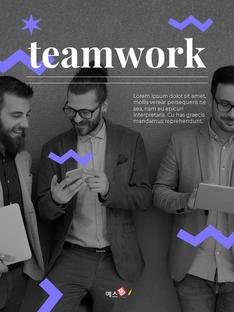 팀워크 (Business Teamwork) 세로형 PPT
