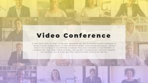 Video Conference  화상 회의 PPT 템플릿(파워포인트>프리미엄 PPT>비즈니스/산업) - 예스폼 쇼핑몰 #2