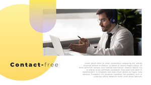 Video Conference  화상 회의 PPT 템플릿(파워포인트>프리미엄 PPT>비즈니스/산업) - 예스폼 쇼핑몰 #4