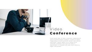 Video Conference  화상 회의 PPT 템플릿(파워포인트>프리미엄 PPT>비즈니스/산업) - 예스폼 쇼핑몰 #13