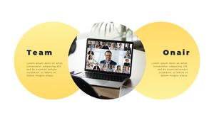 Video Conference  화상 회의 PPT 템플릿(파워포인트>프리미엄 PPT>비즈니스/산업) - 예스폼 쇼핑몰 #17