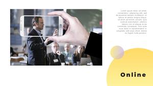 Video Conference  화상 회의 PPT 템플릿(파워포인트>프리미엄 PPT>비즈니스/산업) - 예스폼 쇼핑몰 #24