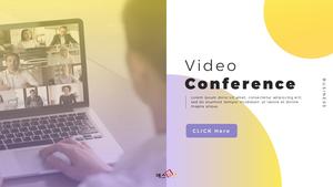 Video Conference  화상 회의 PPT 템플릿(파워포인트>프리미엄 PPT>비즈니스/산업) - 예스폼 쇼핑몰 #1