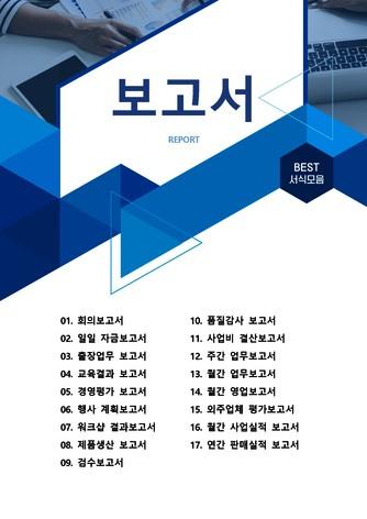 보고서 베스트 서식 - 섬네일 1page