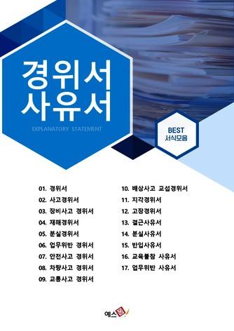 경위, 사유서 베스트 서식 - 섬네일 1page