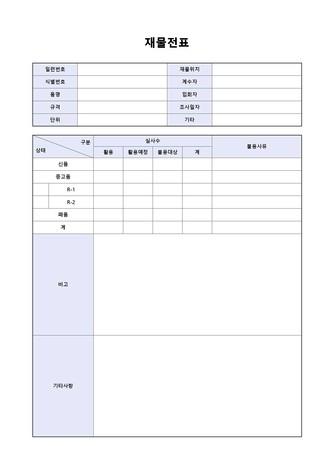 각종 전표 베스트 서식 - 섬네일 11page