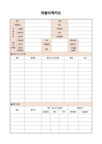 각종 카드 베스트 서식 - 섬네일 10page