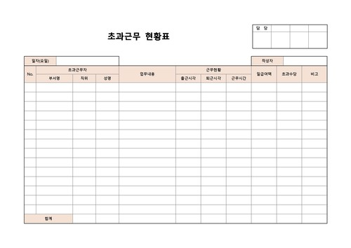 현황표 베스트 서식 - 섬네일 14page