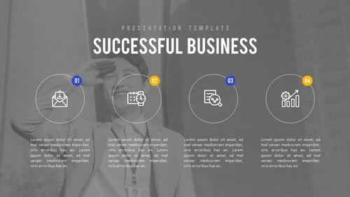 비즈니스 (Business) 파워포인트 배경 - 섬네일 4page