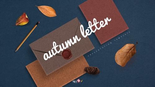 가을 편지 (Autumn) PPT 표지 - 섬네일 1page
