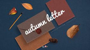 가을 편지 (Autumn) PPT 표지 #1