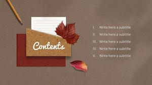 가을 편지 (Autumn) PPT 표지 #2