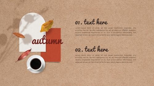 가을 편지 (Autumn) PPT 표지 - 섬네일 3page