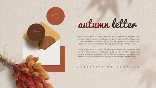 가을 편지 (Autumn) PPT 표지 - 섬네일 4page