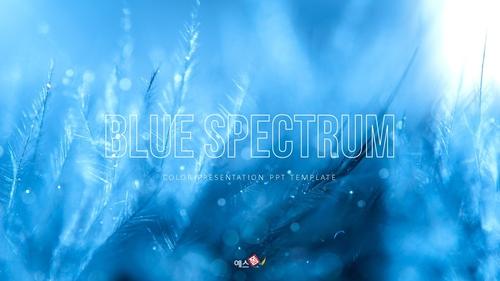 블루 스펙트럼 (Blue Spectrum) PPT 16:9 - 섬네일 1page
