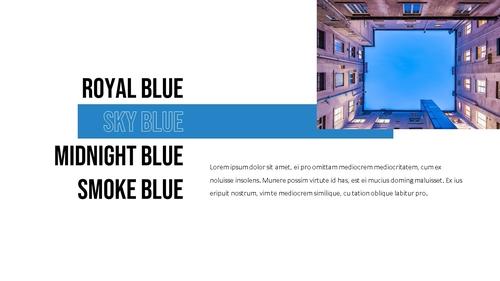 블루 스펙트럼 (Blue Spectrum) PPT 16:9 - 섬네일 5page