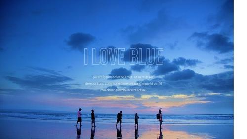 블루 스펙트럼 (Blue Spectrum) PPT 16:9 - 섬네일 35page