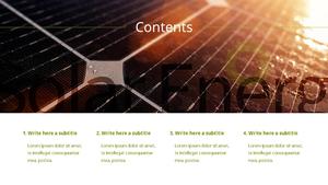 Solar Energy (태양열 에너지) PPT template