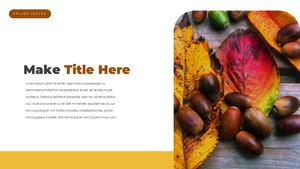 낙엽 (fallen leaves) PPT 템플릿