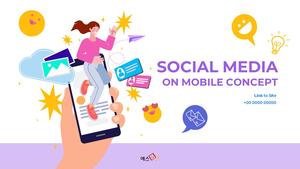소셜미디어 모바일 컨셉 (Social Media on Mobile) 템플릿 #1