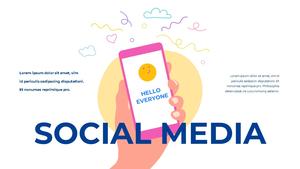 소셜미디어 모바일 컨셉 (Social Media on Mobile) 템플릿 #3