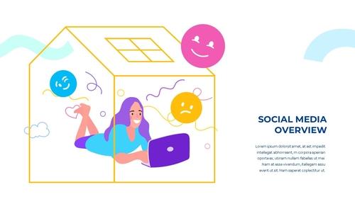 소셜미디어 모바일 컨셉 (Social Media on Mobile) 템플릿 - 섬네일 4page