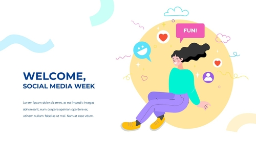 소셜미디어 모바일 컨셉 (Social Media on Mobile) 템플릿 - 섬네일 5page