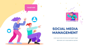 소셜미디어 모바일 컨셉 (Social Media on Mobile) 템플릿 #6