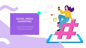 소셜미디어 모바일 컨셉 (Social Media on Mobile) 템플릿 #7