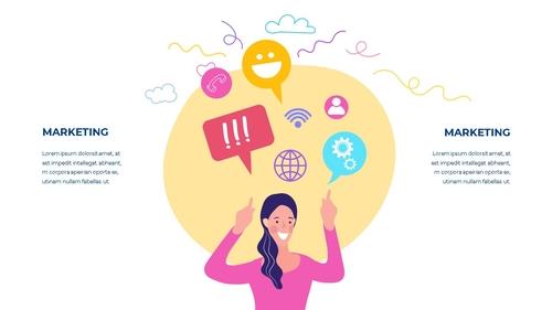 소셜미디어 모바일 컨셉 (Social Media on Mobile) 템플릿 - 섬네일 8page