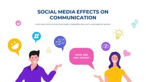소셜미디어 모바일 컨셉 (Social Media on Mobile) 템플릿 #9