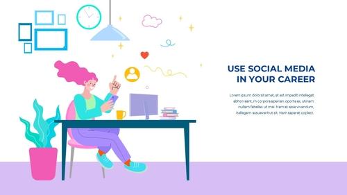 소셜미디어 모바일 컨셉 (Social Media on Mobile) 템플릿 - 섬네일 10page