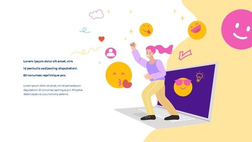 소셜미디어 모바일 컨셉 (Social Media on Mobile) 템플릿 - 섬네일 11page