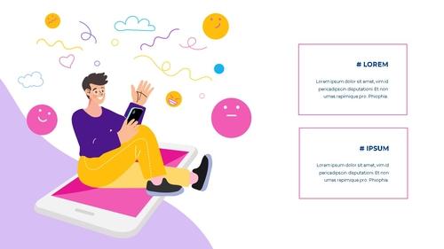 소셜미디어 모바일 컨셉 (Social Media on Mobile) 템플릿 - 섬네일 12page