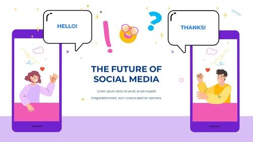 소셜미디어 모바일 컨셉 (Social Media on Mobile) 템플릿 - 섬네일 13page