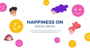 소셜미디어 모바일 컨셉 (Social Media on Mobile) 템플릿 #14